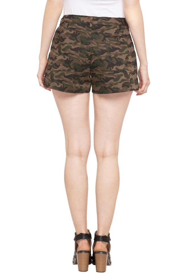 Womens 3 Pocket Camouflage Shorts