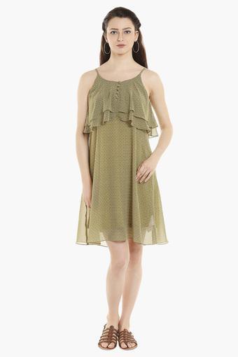 Womens Printed Layered Dress