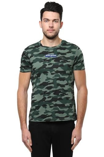 9a64aafba6eb Buy WRANGLER Mens Round Neck Camouflage T-Shirt | Shoppers Stop