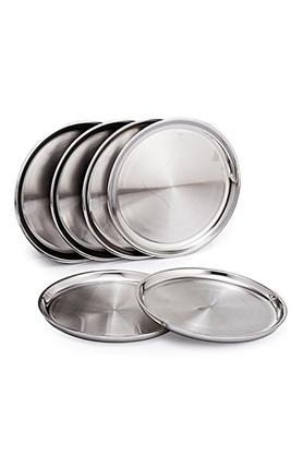 SANJEEV KAPOOR Stainless Steel Case Dinner Plates