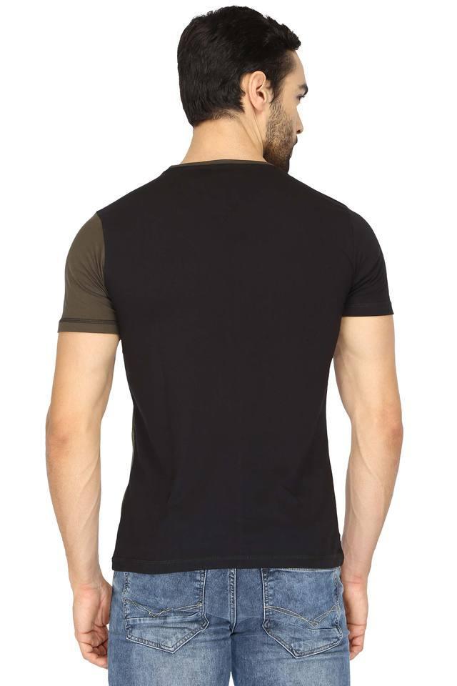 Mens Round Neck Printed T-Shirt