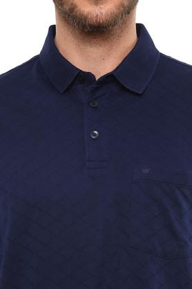 Mens Self Printed Polo T-Shirt