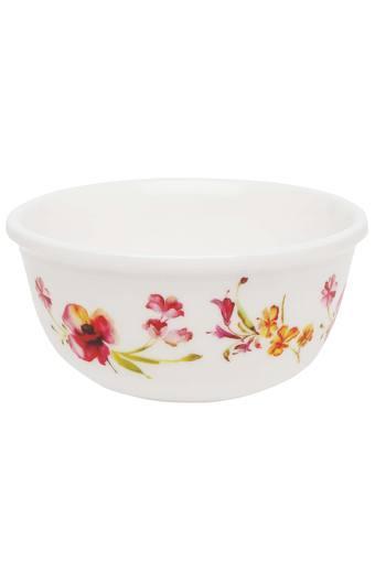 Four O Clock Round Floral Printed Bowl