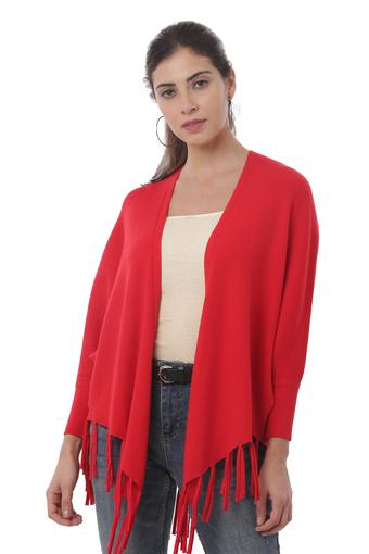 Womens Open Front Solid Shrug