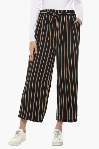 Womens 2 Pocket Striped Culottes
