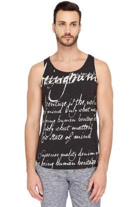 BEING HUMANMens Round Neck Printed Vest