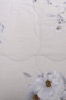 Essence Floral Jeanelle Grey Printed Cotton 100 GSM Double Quilt