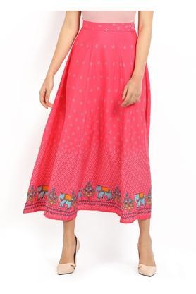 AURELIAWomens Printed Flared Skirt