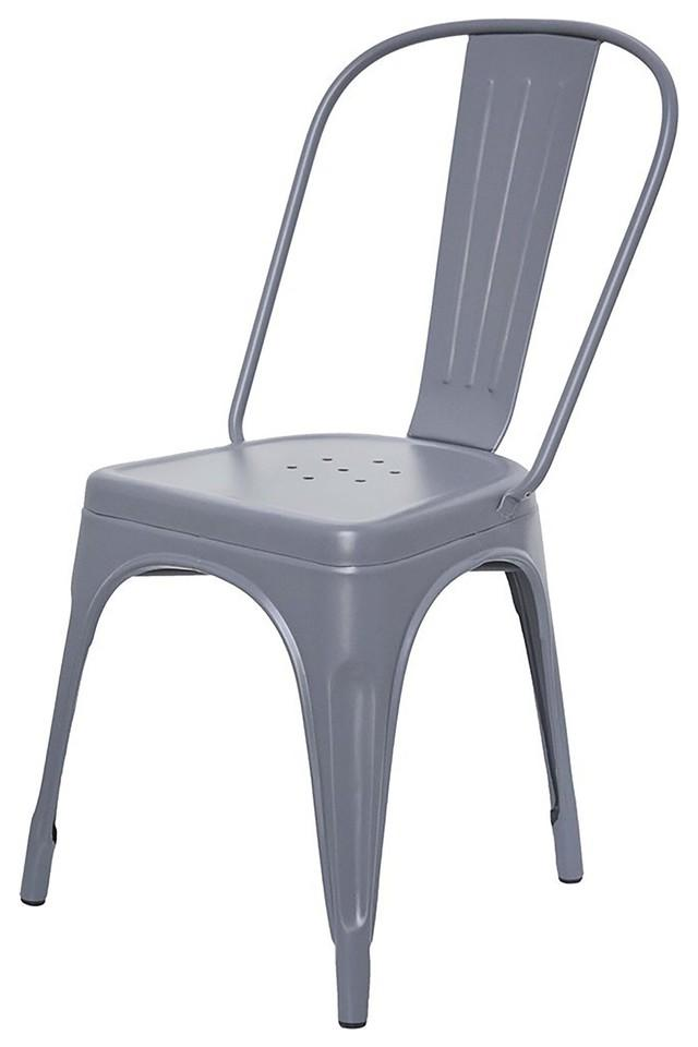 Grey Stylo Chairs Set of 4