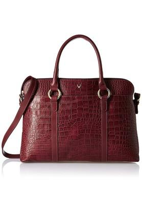 Womens Leather Zipper Closure Laptop Bag