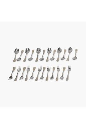 Gold Plated Mixed Cutlery and Serving Spoon Set of 90