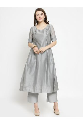 VARANGA -  Grey Salwar & Churidar Suits - Main