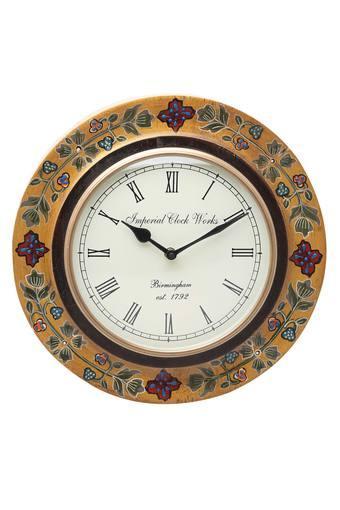 Tuhin Round Analogue Wall Clock with Roman Markers