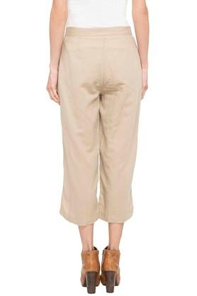 Womens 2 Pocket Slub Culottes