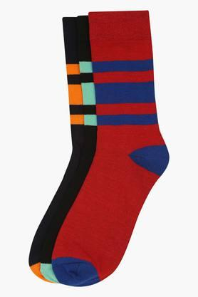 VETTORIO FRATINI Mens Stripe Socks Pack Of 3 - 9821550