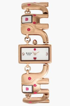 TITAN Wanderer Elephant By Masaba Titan Raga Analog Watch - 95070WM01