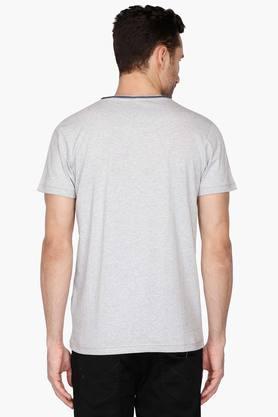 Mens V Neck Printed T-Shirt