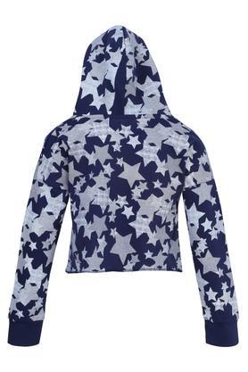 Girls Hooded Printed Jacket