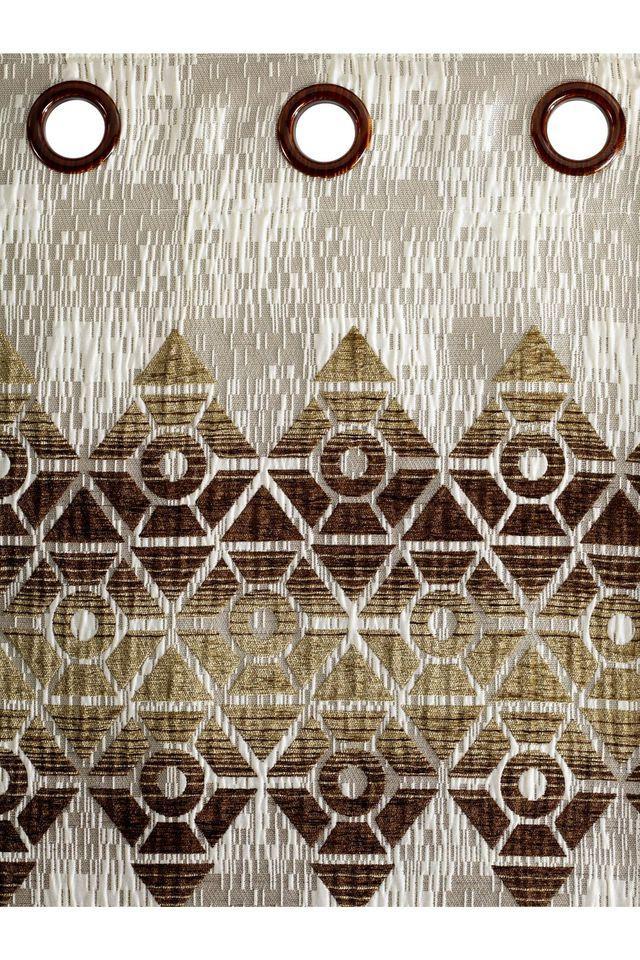Polyester Logan Diamond Geometric Window Curtain