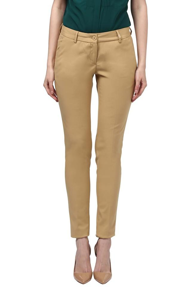 Womens 4 Pocket Slub Pants