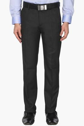LOUIS PHILIPPE Mens 4 Pocket Slub Formal Trousers - 203054209