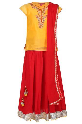 BIBA GIRLS -  Yellow MixIndianwear - Main