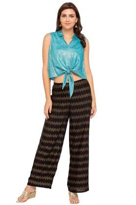 Womens Printed Casual Pants
