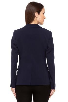 Womens Peaked Lapel Solid Blazer