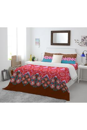 SPACESCotton Printed Double Bed Sheet With 2 Pillow Covers - 201200429_9607