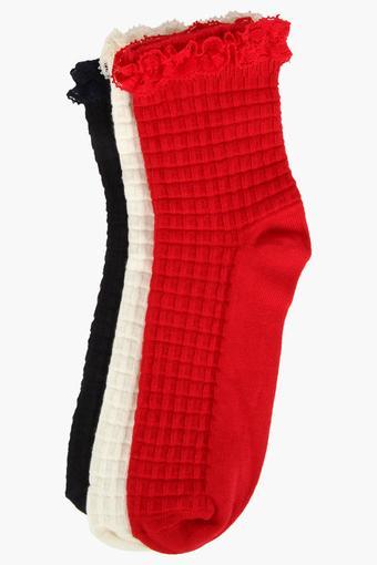 Boys Solid Socks - Set of 3