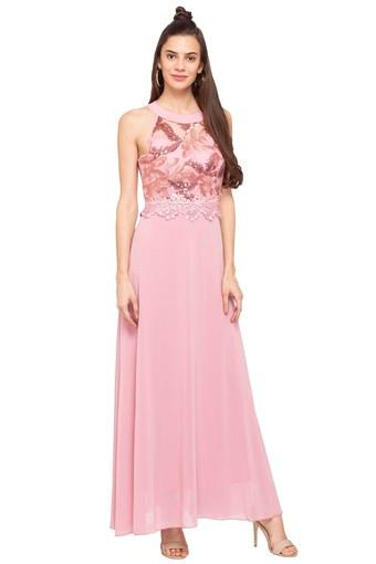 39991864ec Buy DEAL JEANS Womens Band Neck Solid Embellished Maxi Dress | Shoppers Stop