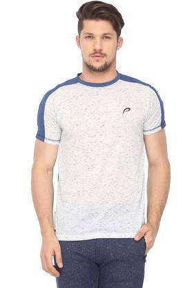 PROLINEMens Round Neck Colour Block T-Shirt
