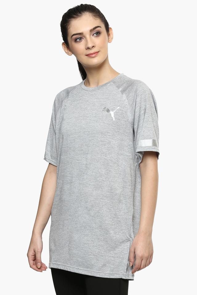 Womens Round Neck Slub T-Shirt