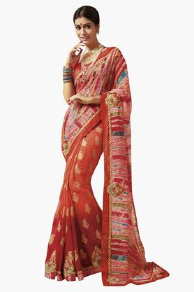 DEMARCAWomens Chiffon Printed Saree