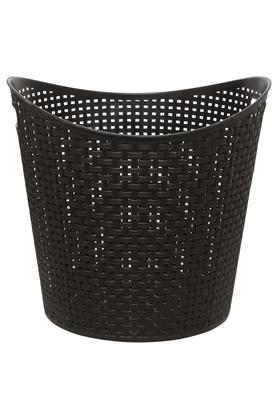 Open Top Asymmetrical Rim Solid Laundry Basket