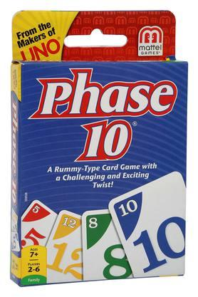 Unisex Phase 10 Card Game