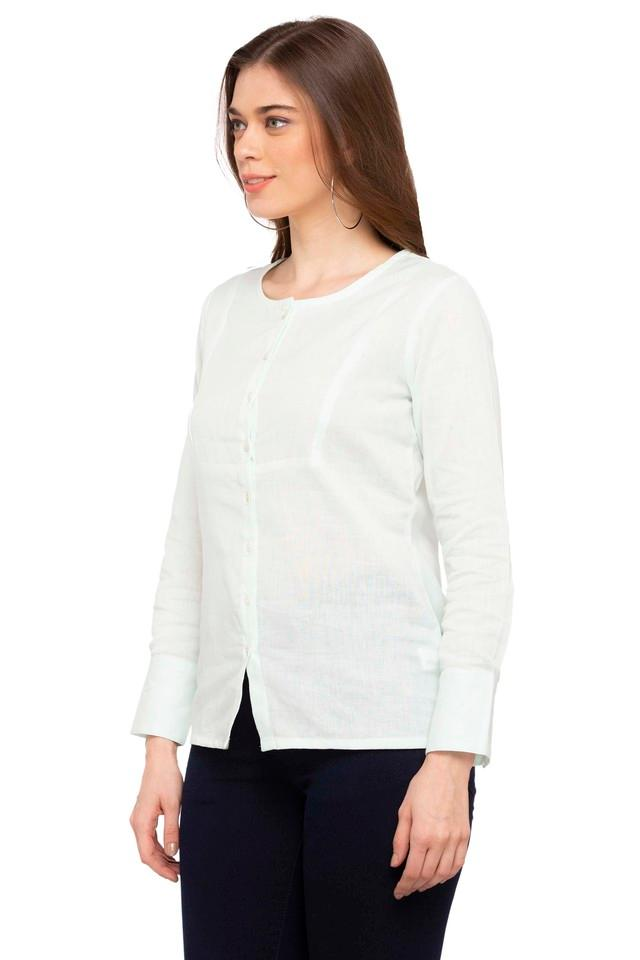 Womens Round Neck Slub Shirt