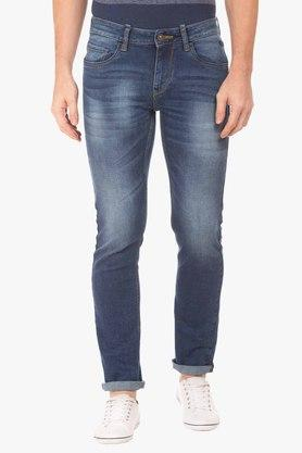 FLYING MACHINE Mens Tapered Fit Mild Wash Jeans (Michael Fit)