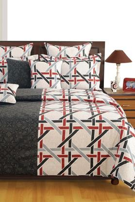 SWAYAM Printed Double Extra Large Bed Sheet With 2 Pillow Covers - 204274534_8688