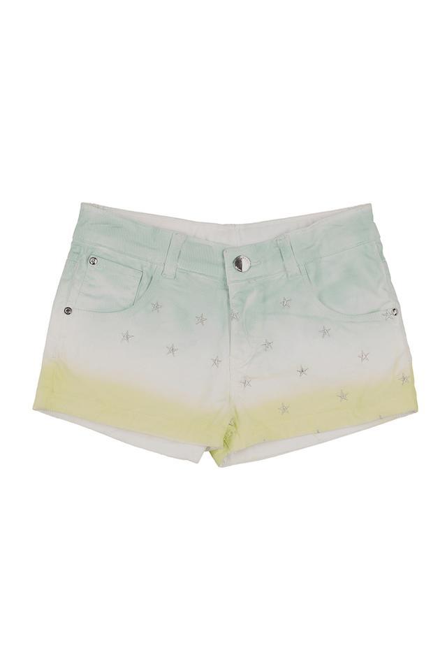 Girls 5 Pocket Ombre Print Shorts