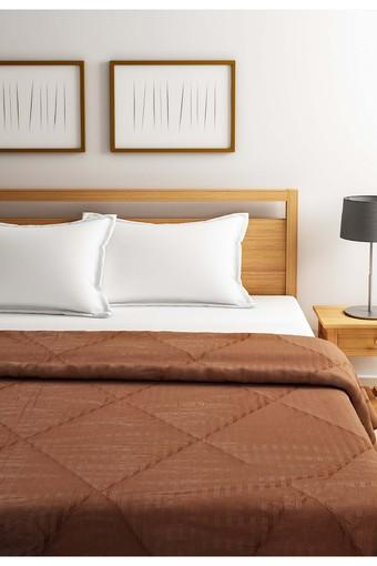 Brown Solid Double AC Comfortor