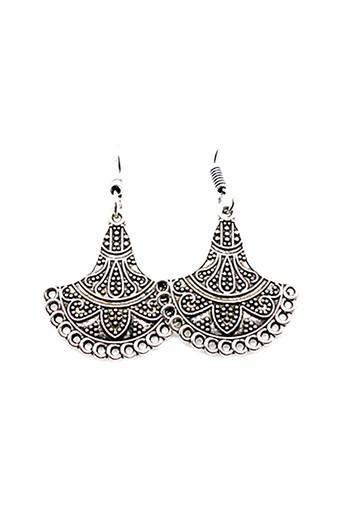 Womens Silver Plated Metal Earrings