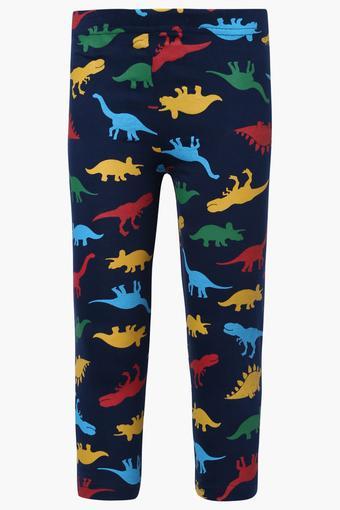 Boys Printed Solid and Stripe Pyjamas Set of 3