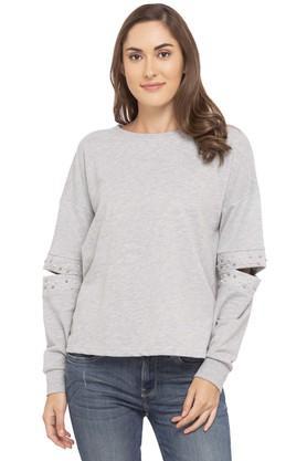 ONLYWomens Round Neck Slub Sweater