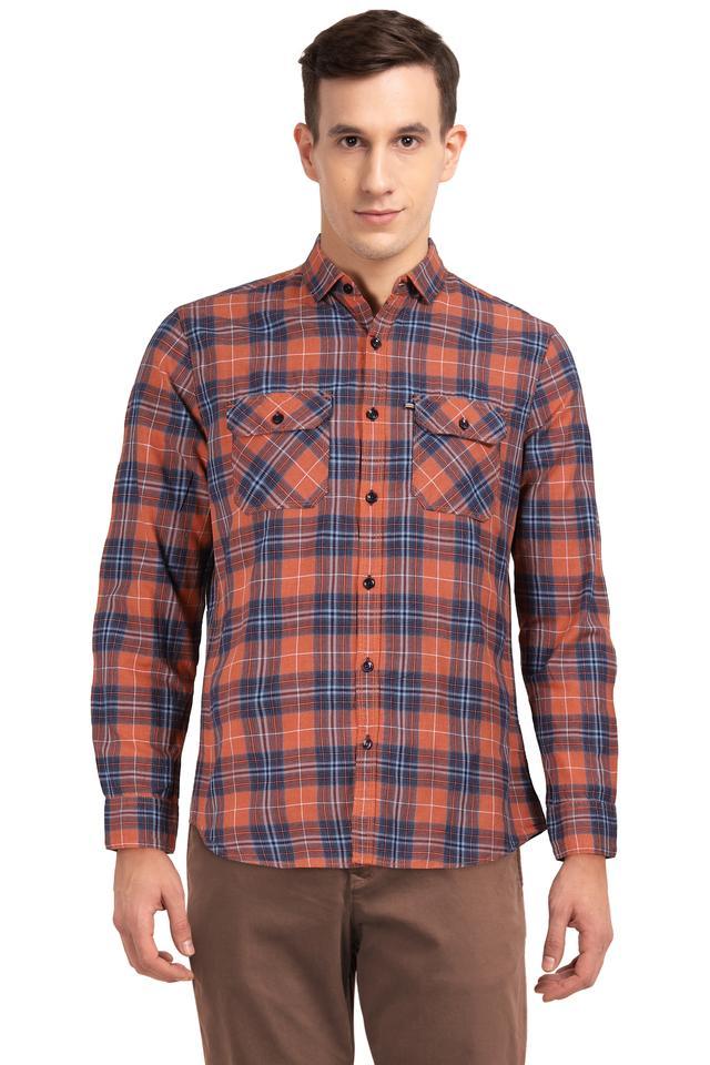 LIFE - OrangeCasual Shirts - Main