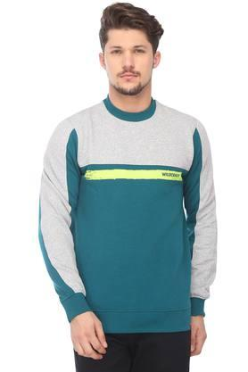 WILDCRAFT Mens Round Neck Colour Block Sweatshirt - 204793158_9217