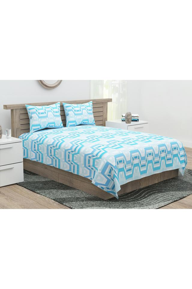 Sparkle Printed Double Bed Sheet with 2 Pillow Covers