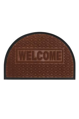 Rectangular Dome Solid Textured Doormat