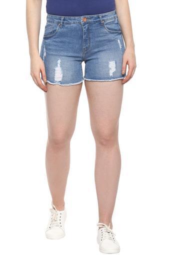 VIBE -  Mid BlueCapris & Shorts - Main