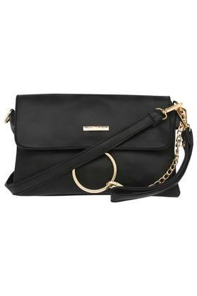 Womens Casual Wear Snap Closure Sling Clutch